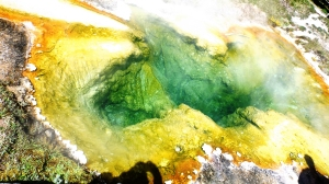 Hot Spring with Extremophile Colors