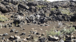 Ejected Rocks, Lava Soil, and Poured Lava (near the top)