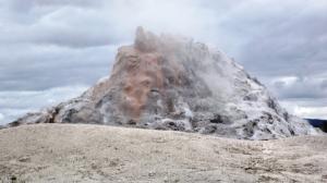 White Dome Geyser Erupting