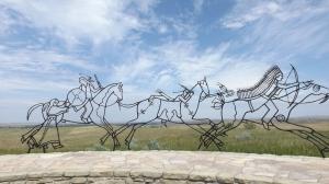 Artwork in the Indian Memorial