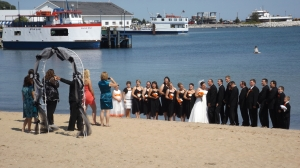 Beach Wedding in St. Ignace