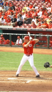 Jay Bruce Before Scoring the Winning Run in the Second Inning, Cincinnati