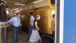 Wally Byam's Gold Airstream, with Pilgrims
