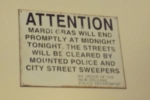 Antique Sign.  Current Practice.
