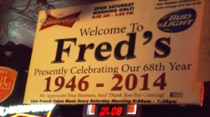 Fred's 68th Anniversary
