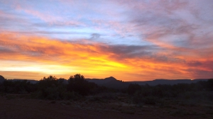 Sunset From Our Campground