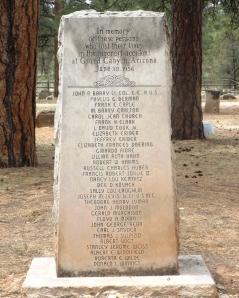 Memorial to 1956 Plane Crash Collision Over the Canyon