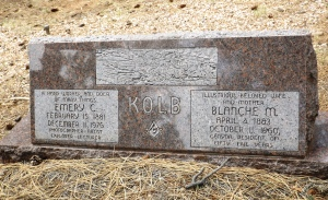Emery Kolb Headstone