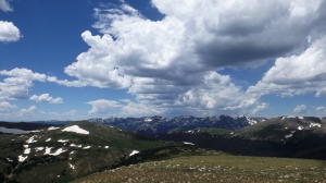 Rocky Mountain NP with Clouds