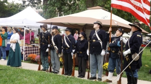 Union Color Guard with Women