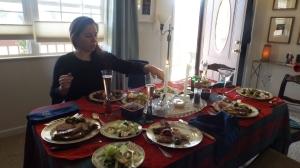 Stephanie and Our Christmas Dinner