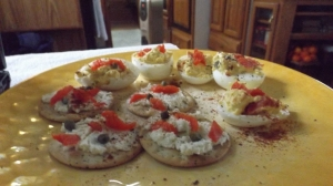 Christmas 2014 Lox and Caper Canapes
