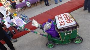 The Spirit of Abita Springs' Push-Mow Mardi Gras Parade