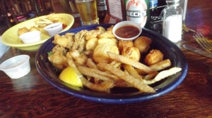 Howard's Pub Seafood Platter (My Serving on Left)
