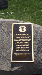 A Bronze for One of Shenandoah's CCC Camps