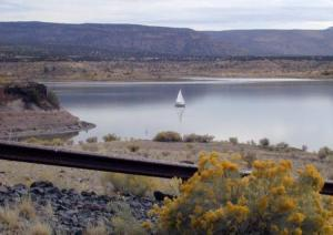 Cochiti Lake with a Boater