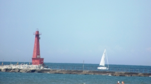 Little Red with Sailboat