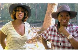 Oprah and Gayle in Yosemite