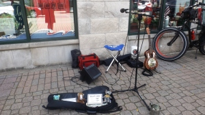 Even Street Musicians Go On Break