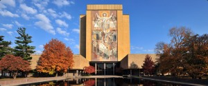 Hesburgh Library with Touchdown Jesus