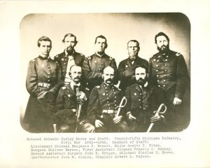 Colonel Moore with Staff of 25th Michigan